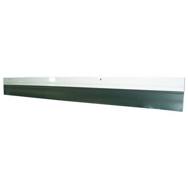 Burlete para puerta de garaje cierre de caucho perfil - Perfil aluminio blanco ...