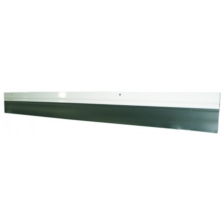 Burlete para puerta de garaje cierre de caucho perfil aluminio blanco - Burletes para puertas de garaje ...
