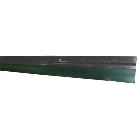 Burlete para puerta de garaje cierre de caucho perfil aluminio negro - Burletes para puertas de garaje ...