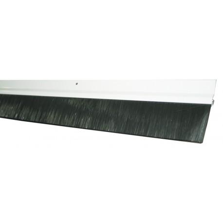 Burlete puerta garaje cierre de flecos de nylon perfil aluminio blanco - Burletes para puertas de garaje ...