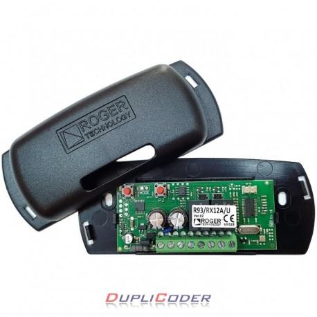 RECEPTOR ROGER R93/RX12A/U DE 2 CANALES 12/24 VAC/DC. 433,92 MHz